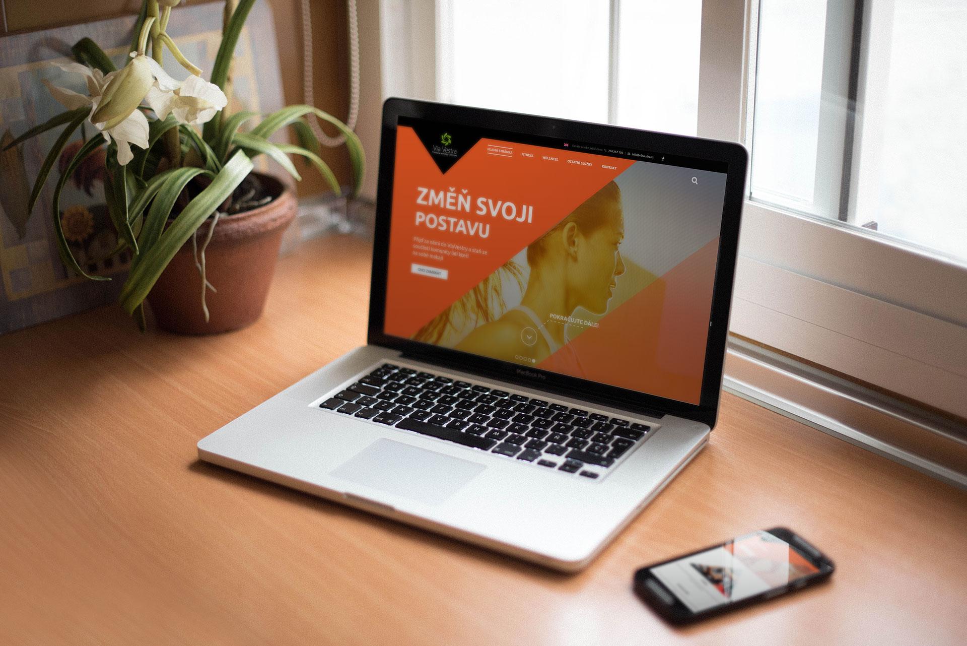Ukázka nových internetových stránek pro posilovnu ViaVestra. Zároveň jsme provedli i reklamní kampaň na Facebooku.