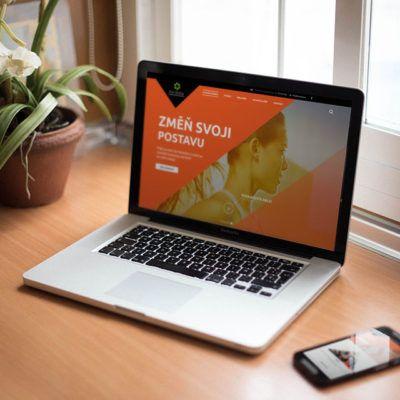 Ukázka redesign nových internetových stránek pro posilovnu ViaVestra, v ceně Viavestra byla také reklamní kampaň pomocí modelu PPC