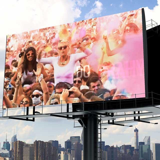 Holi music festival videospot, video reklama a jeho jakožto reference prezentace na billboardu