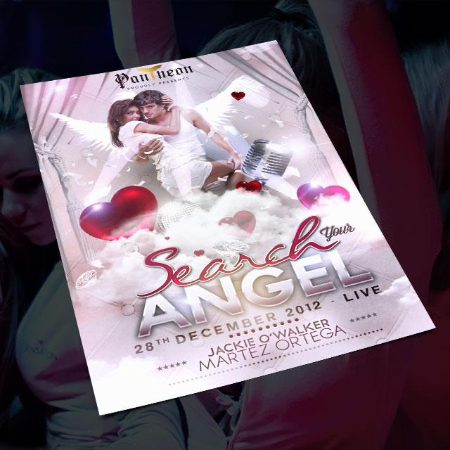 Reference a grafika formou flyeru neboli letáku / plakátu na perfektní párovací párty v Music Clubu Pantheon.